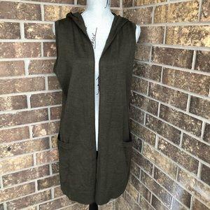 Cynthia Rowley Green Vest Size L